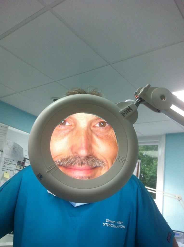 Simon Allen in Magnifying Glass